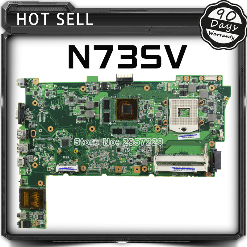 For N73SV N73SM N73S Laptop Motherboard for Asus N73JG+i3 cpu Mainboard HM55 GT 415M 1GB 2DDR3 Sockets 100% Tested Work well for asus k54c laptop mainboards 60 n9tmb1000 b31 ddr3 for i3 cpu well tested