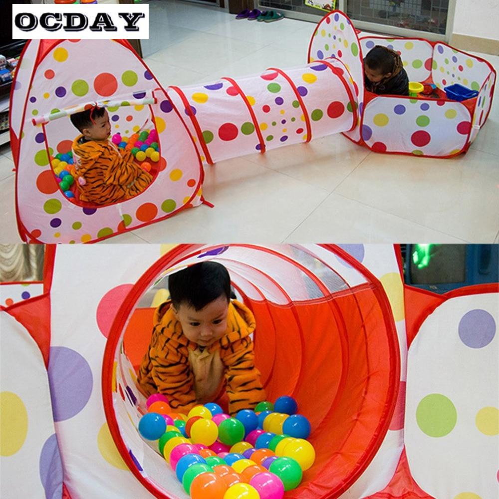 OCDAY 3 en 1 tienda de juguetes para niños niños Portátil plegable - Deportes y aire libre - foto 2