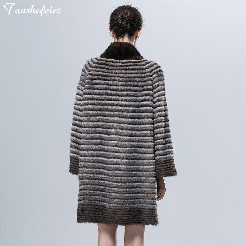 Les De Fanshefeier Colour02 colour04 Réel La Vison Fourrure Femmes Manteau Pour colour01 Et colour03 À Naturel Automne Mince Mode D'hiver wqqxPRFt