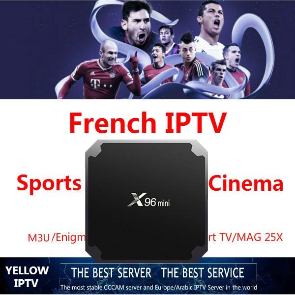 French IPTV 1G8G Android 7.1 box French Arabic Netherland USA UK CA Poland Germany Spain Portugal  IPTV VOD
