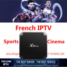 French IPTV 1G8G Android 7.1 box French Arabic Netherland USA UK CA Poland Germany Spain Portugal IPTV VOD(China)
