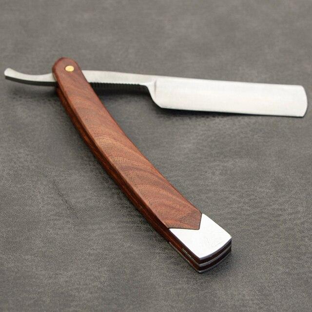 River lake straight Razor Folding Shaving Knife Professional Men Manual Beard Shaver Stainless Steel Straight Edge Barber 1