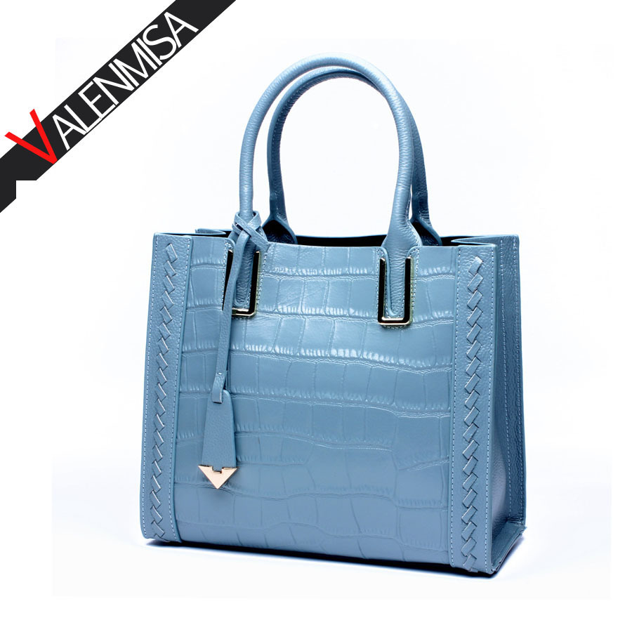 Women Genuine Leather Tote Bag Luxury Handbags Women Bags Designer Crocodile Women Messenger Bags High Quality Famous Brands bag soar cowhide genuine leather bag designer handbags high quality women shoulder bags famous brands big size tote casual luxury