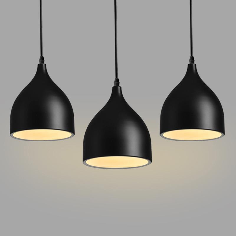 Modern 3 head tulip bar light aluminum restaurant pendant lamp fast free ship pendant lights FG995