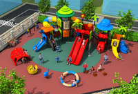 Развлечений открытый играть структура для парка/сообщества/центр, большой в сочетании слайд площадка для детей YLW OUT17921