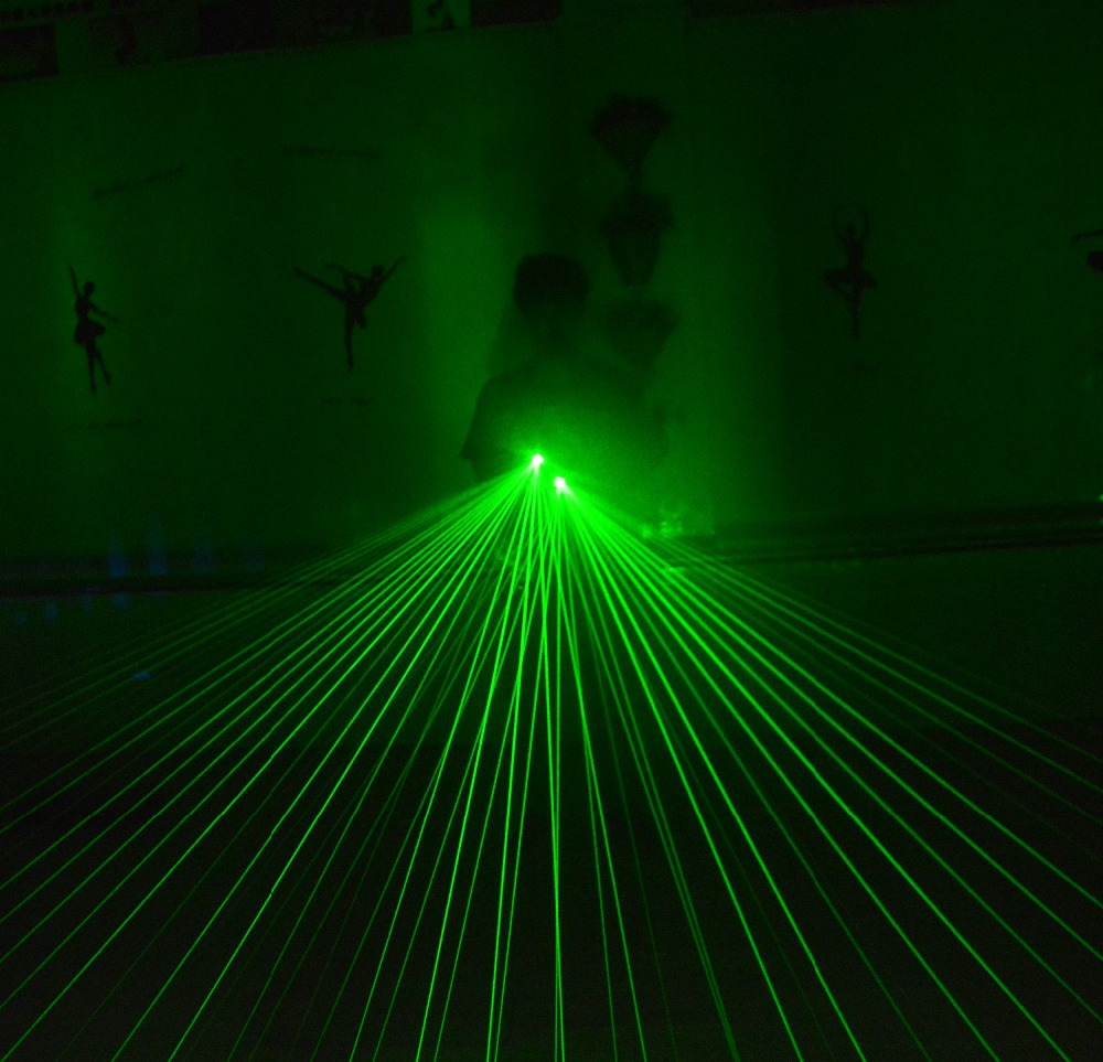 Novi dizajn veleprodajna cijena dj 4pcs zelene laserske rukavice za - Za blagdane i zabave - Foto 6