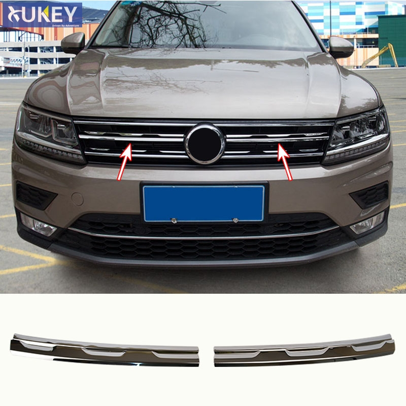 Stainless Front Window Windshield Trim Cover For VW Tiguan MK2 2nd Gen 2016-2018