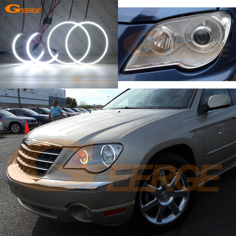 For Chrysler Pacifica 2007 2008 XENON headlight Excellent Ultra bright illumination smd led Angel Eyes kit