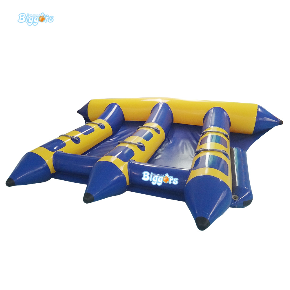 En14960 Certificated 6 People Seat Fashion Style Gonflable Flyfish Boat Inflatable Towable Tube Water Game Flyfish Banana Boat 8 person inflatable ski flotation 2 tube banana boat towables water wave surf game riding water game