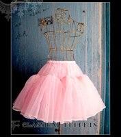 Lolita Skirt Classic Glass Yarn Slip Bell Shaped Petticoat Underskirt Pettiskirt Pannier With Lining Free Shipping