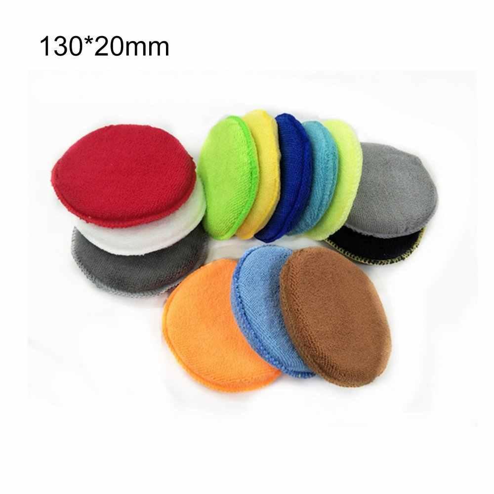 Praktische Auto Microfiber Ronde Vorm Wax Applicator Pads Polijsten Sponzen Met Netto Auto-accessoires Polijstmachine Pads