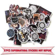 37pcs Supernatural SPN Creative badge DIY decorative stickers Cartoon style for PC wall notebook phone scrapbooking E0009