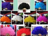 Wholesale 6pcs beautiful big natural ostrich feather fan Dance performance Dance performance Christmas decoration diy 13 bone
