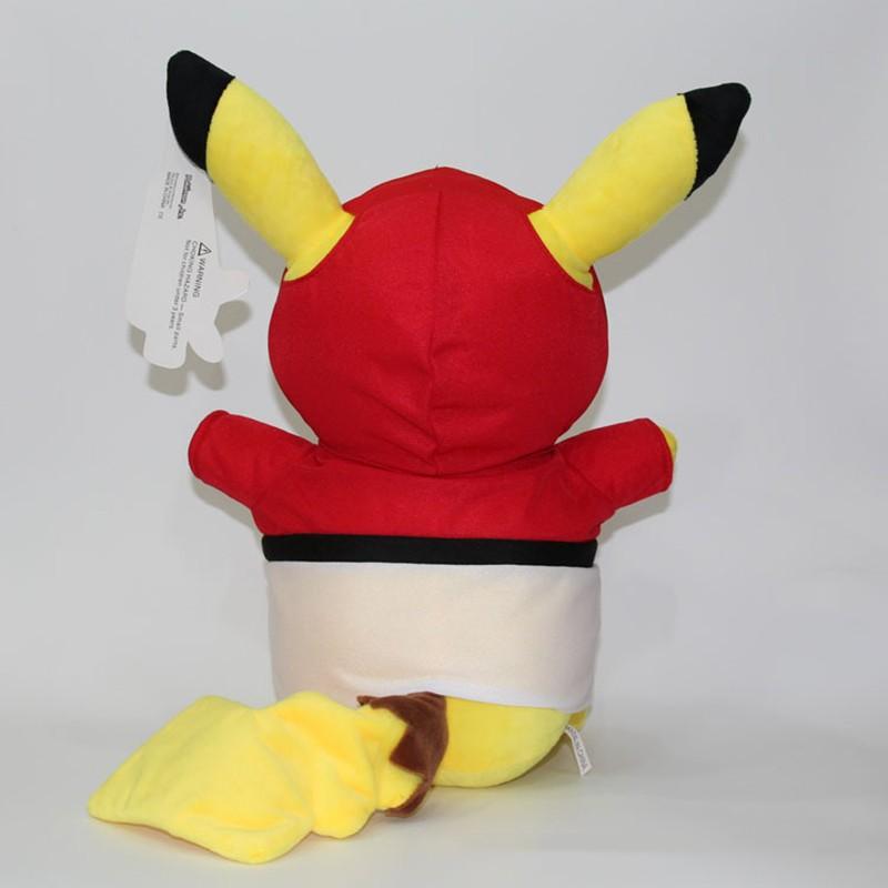 Kawaii Graduation Pikachu Cos Pokeball Cloth Plush Toys Soft Stuffed Animal Dolls for Children\'s Gift 13inch 32cm 2 Styles (5)