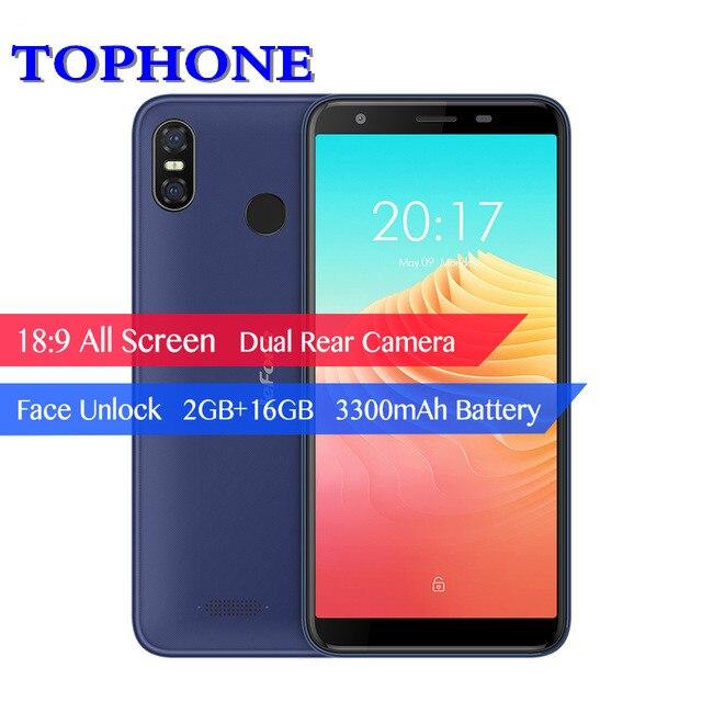 Ulefone S9 Pro 5.5 HD + Mobile Téléphone Android 8.1 MTK6739 Quad Core 2 gb RAM 16 gb ROM 13MP + 5MP Double Arrière Caméras 4g LTE smartphone