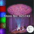10 UNIDS/Cartón LED Romántico Aurora Maestro, Lámpara Colorida de La Noche del LED Océano Onda Ligera Del Altavoz Del Proyector con USB, Regalo de navidad de La Lámpara