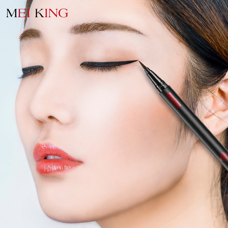 Фото MEIKING 1 Pcs Black Long Lasting Eye Liner Pencil Waterproof Eyeliner Smudge-Proof Cosmetic Beauty Makeup Liquid Eyeliner Pen