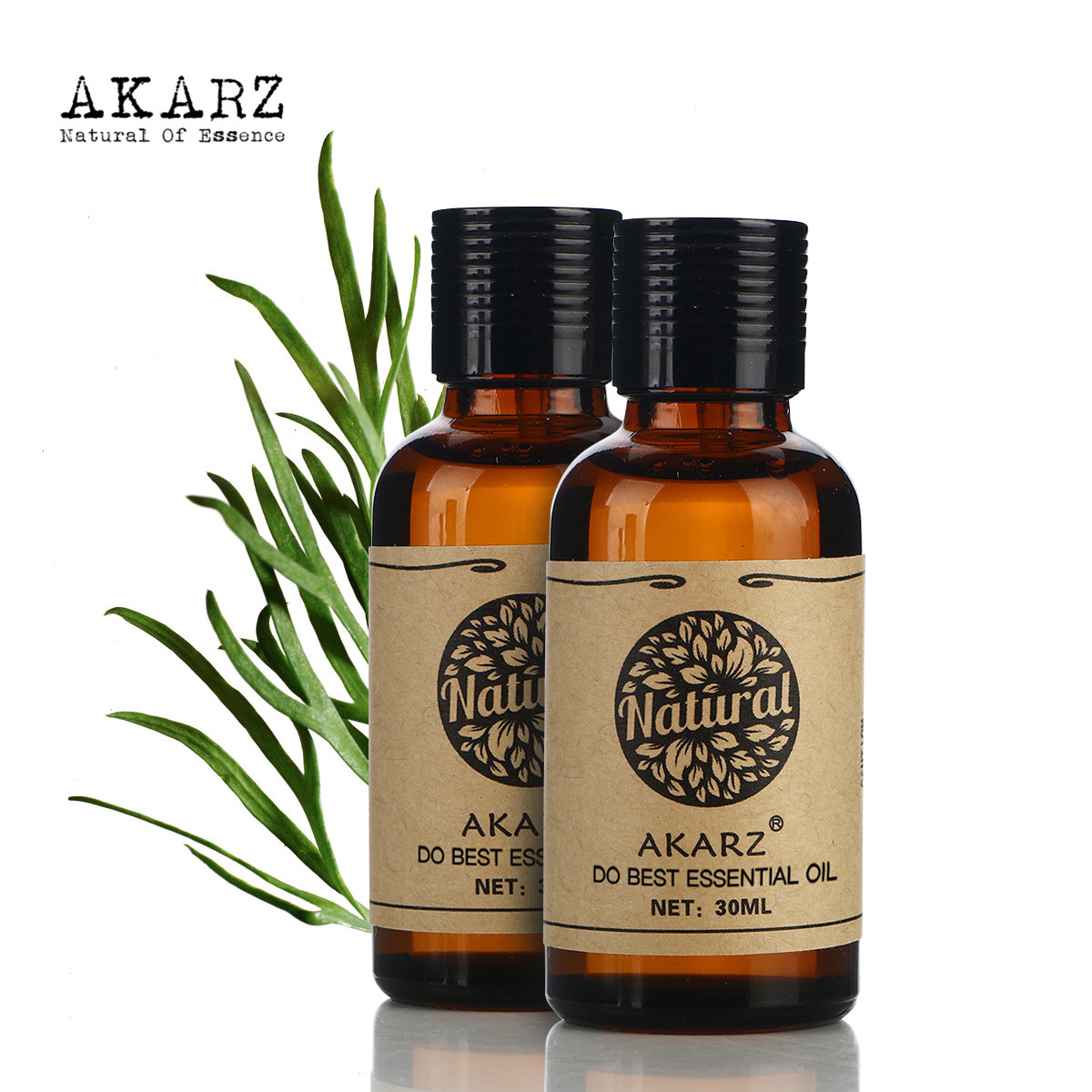 AKARZ Famous brand hair care set pure natural aromatherapy castor oil Rosemary essential oil Repair skin care Massage Oil 30ml*2