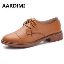 Véritable En Cuir Oxford Chaussures Femmes Appartements 2017 Mode Femmes Chaussures Casual Mocassins Mocassins Dames Sapatilhas Zapatos Mujer