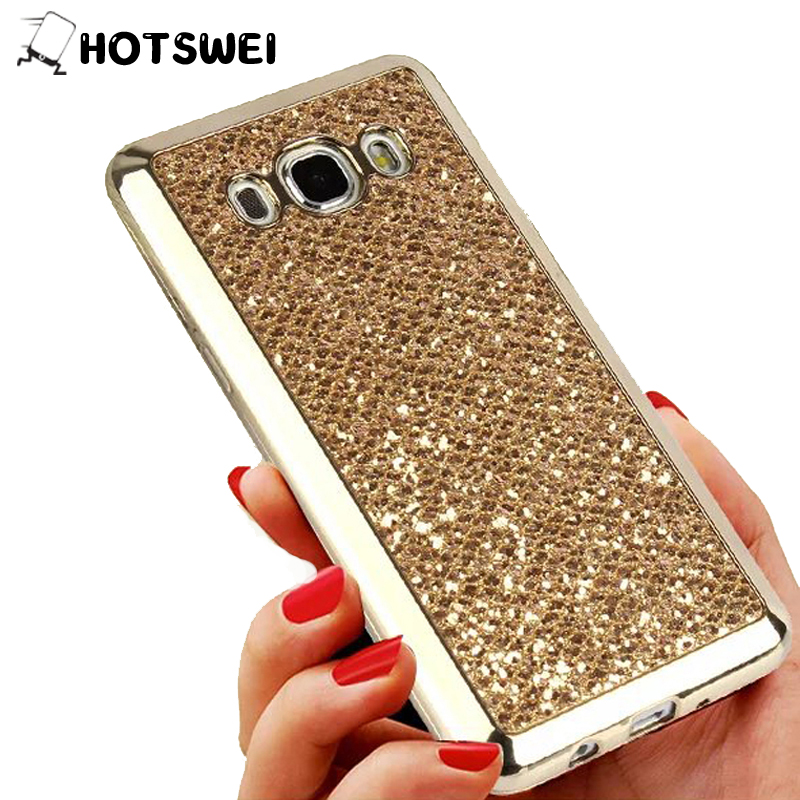 HOTSWEI Case for Samsung Galaxy J3 J7 J5 J1 2016 J2 Prime Soft Silicone Glitter Back Case for Samsung Galaxy J7 J3 J5 2017 Cover