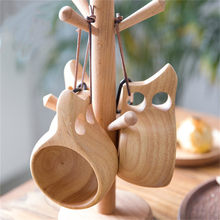 High Quality Wooden Cup Handmade Milk Coffee Beer Drinking Mugs Gift High Quality Portable drink cup Outdoor Wood Mug(China)