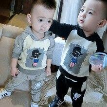 New Children Clothing Leisure Suit Boys Autumn Two-piece Uniform Children Cool Man Suit Children's Clothes 18M-4T