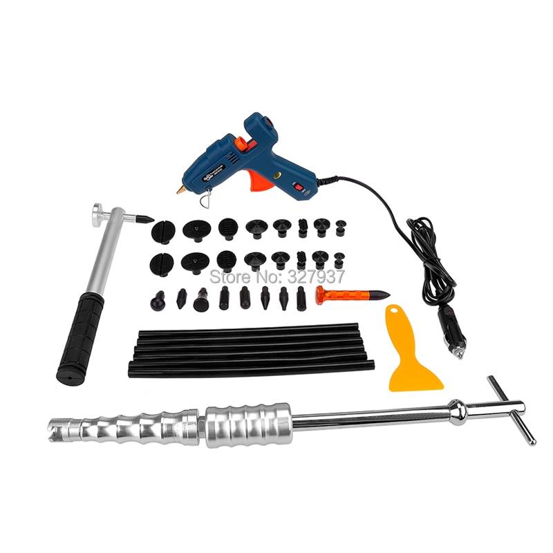 ФОТО PDR Tools Dent Removal Paintless Dent Repair Tools Straightening Dents Glue Gun Hot Melt Glue Sticks Hand Tools Kit Ferramentas