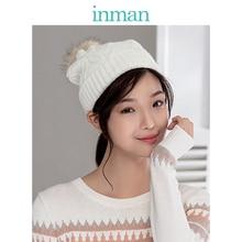 INMAN зимний Корейский стиль идеально подходят к уплотненная меховая теплая уши доски для серфинга Вязание Кепки