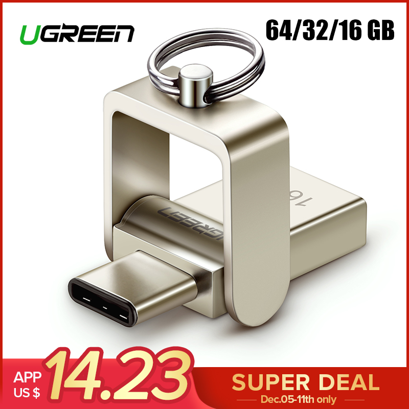 Ugreen USB Lecteur Flash 3.0 USB C OTG Pendrive 64 32 gb Pour Samsung Galaxy S9 Plus Note 9 Pour xiaomi Redmi5 Memory Stick Pen Drive