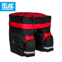 Roswheel 60L Bicycle Bag Black Blue Red Double Bicycle Rear Seat Rack Trunk Bag with rain cover Handbag Pannier Bike accessories