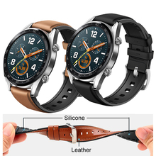 22mm Watch Strap for Huawei Watch GT Band Genuine leather Si