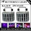 2PCS/RGBW Butterfly Light  laser light / beam lights / DMX control of professional DJ equipment disco lights