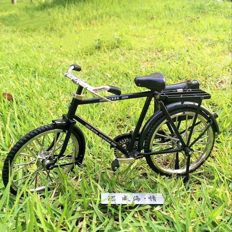 diy miniature assembled metal bicycle model mountain bike ...