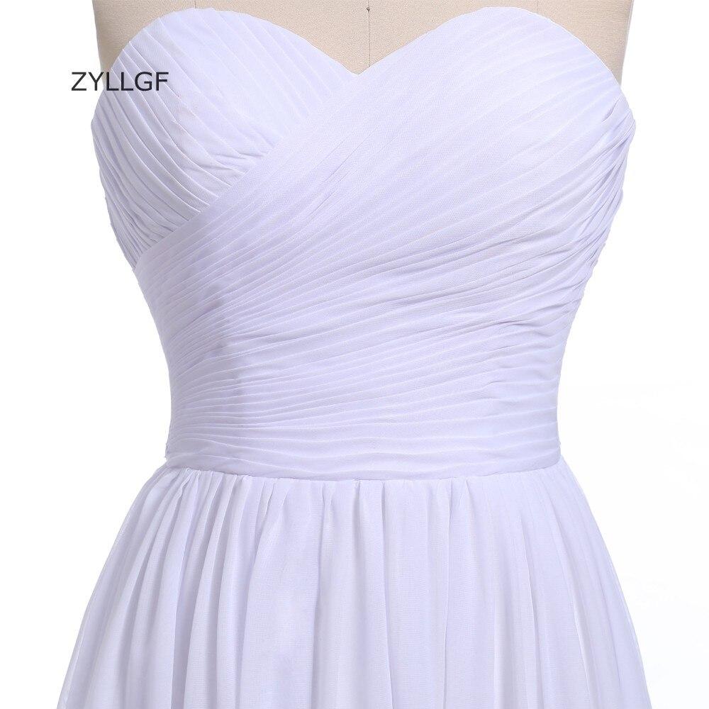 ZYLLGF plašt duša šifon djeveruša haljina duljina poda izlizati - Vjenčanje večernje haljine - Foto 4