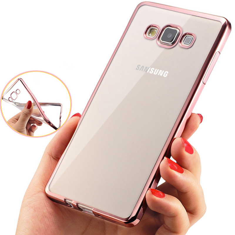 Phone Case For Samsung Galaxy A3 A5 A7 A8 Clear Plating Electroplating TPU Mobile Phone Cover For Galaxy A3000 A5000 A700 A8000