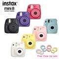 100% Подлинная Fuji Мини 8 Камеры Fujifilm Instax Mini 8 Instant фильм Фотоаппарат Новый 6 Цветов в Наличии + Бесплатная закрыть объектив