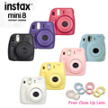 100% Genuine Fuji Mini 8 Camera Fujifilm Instax Mini 8 Instant Film Photo Camera New 6 Colors Available + Free close up Lens