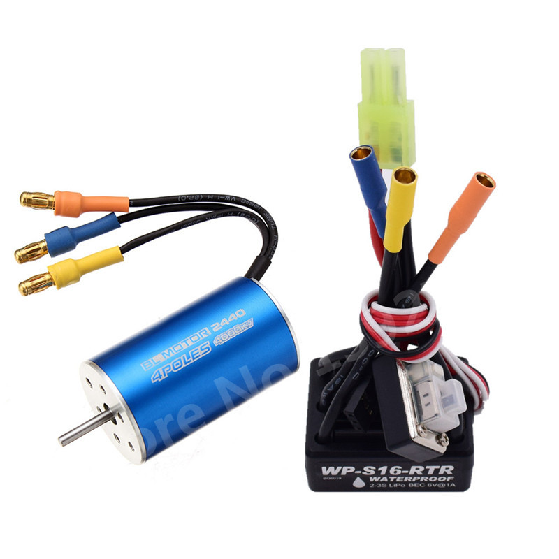 Brushless Modification Kit 25A Waterproof ESC 2-3S 2440 Motor For 1/16 1/18 Scale Models Remote Control Car RC Car WP-S16-RTR 82910 ricambi x hsp 1 16 282072 alum body post hold himoto 1 16 scale models upgrade parts rc remote control car accessories