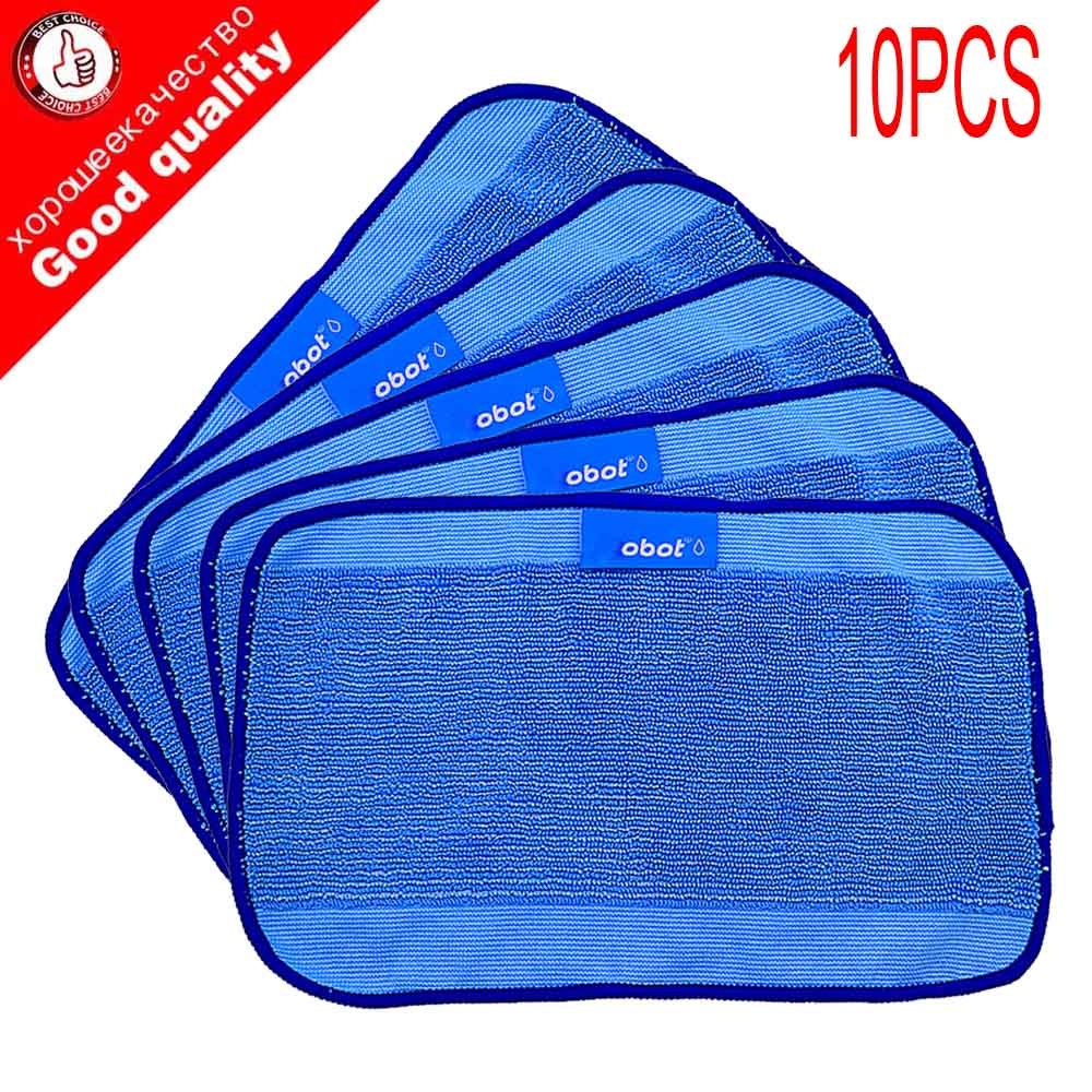 10pcs/Lot High quality Microfiber wet Mopping Cloths for iRobot Braava 321 380 320 380t mint 5200C 5200 4200 4205 Robot cuccio 240g