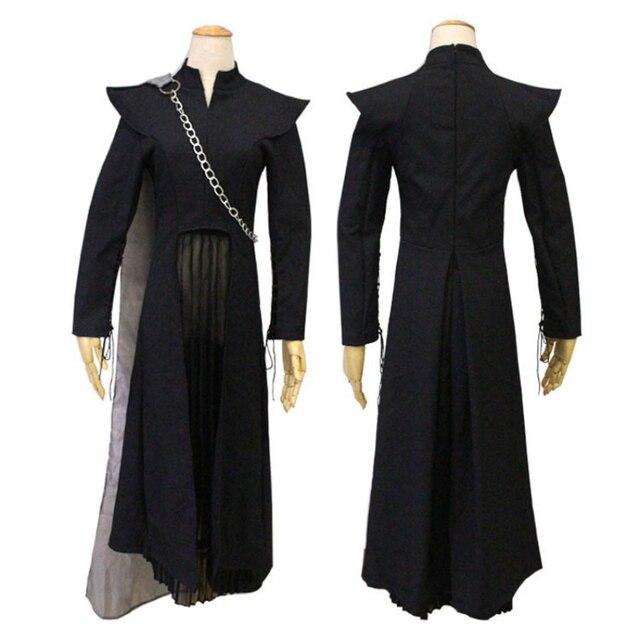 Mujeres vestido Anime Cosplay para juego de Anime tronos Daenerys la madre  de dragones Vestidos traje 842bf3547bc0