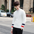 Korean High Quality Casual Sweater Men Pullover Slim Fit Round Neck Long-Sleeved Solid Warm Knitted Sweater Men 2016 Pull Homme