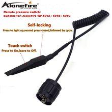 مفتاح الضغط عن بعد ذكي AloneFire/وحدة تحكم لمبة لمصباح يدوي تكتيكي LED 501B WF 501B ، مفتاح الذيل