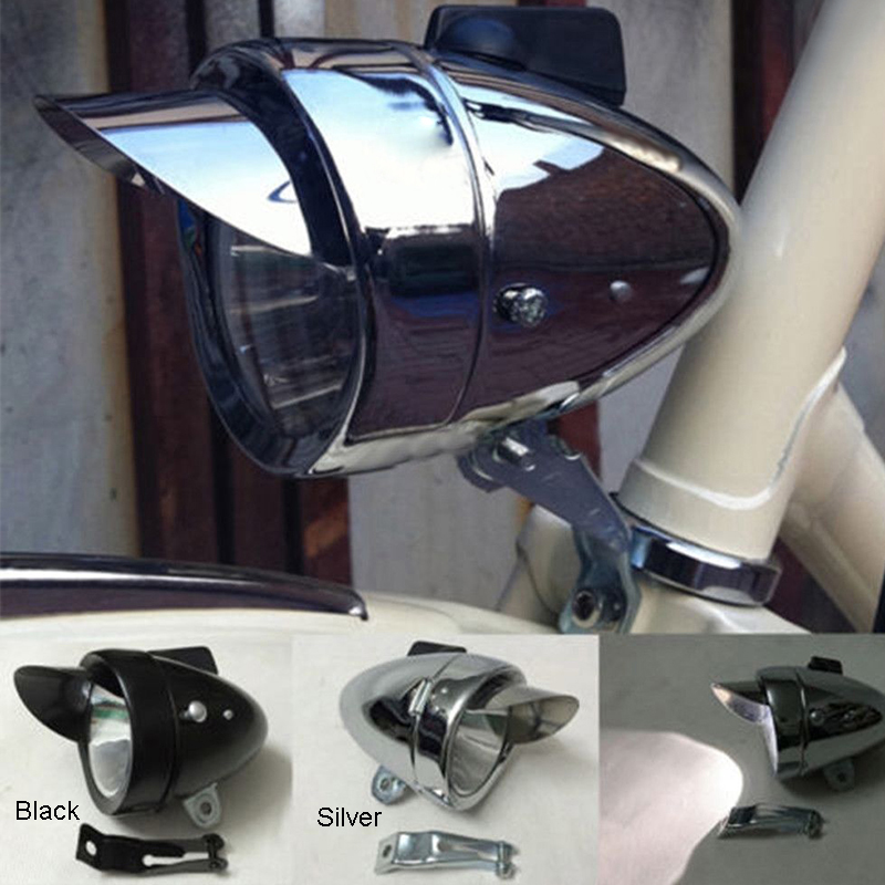 Bicycle Retro LED Headlight Lamp Supper Brightness 3 LED White Light Bicycle Headlight Retro Light With Bracket 3 * AAA 3 mode 3 led red light bicycle tail lamp 2 x aaa