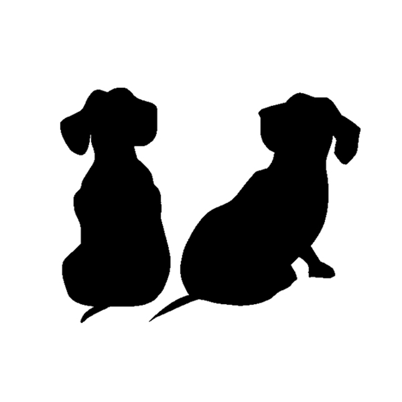 HotMeiNi Car Sticker Jdm styling Window Bumper Vinyl Truck Body Decal Waterproof Dachshund Puppies Dog 13*10cm