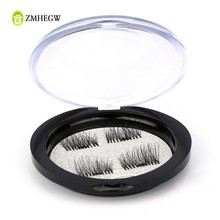 New Arrival Storage Box Magnetic False Eyelashes Magnet Ttone Case Crystal Round Black Makeup Eyelash Storage Box(China)