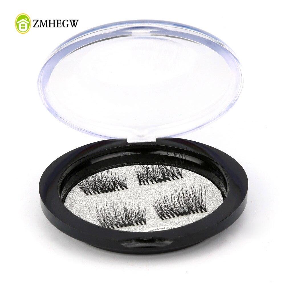 New Arrival Storage Box Magnetic False Eyelashes Magnet Ttone Case Crystal Round Black Makeup Eyelash Storage Box