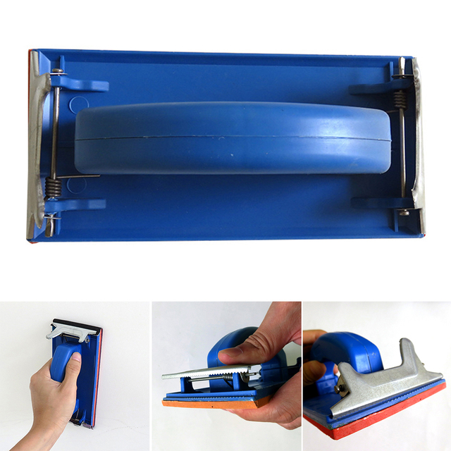 Sponge Shelf Cloth Home Improvement Paper Holder Hand-held Sand Tool Flat Grinding Wall Rack Polishing Frame Plastic Sanding