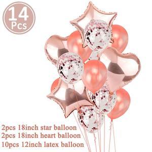 Image 5 - Cartel de Globo de oro rosa de primer cumpleaños para niños y niñas decoración de fiesta de 1 año, guirnalda para niños y niñas, suministros azules