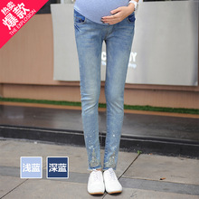 Горячая Распродажа Новая мода паста дрель женские джинсы для беременных эластичная талия хлопковое нижнее Белье для беременных женщин леггинсы джинсы брюки высокого качества