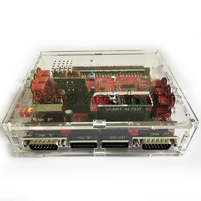 Cbox jamma box 변환기 보드 토성 db15p joypad snk gamepad scart 출력 (jamma pcb igs 마더 보드 용 전원 어댑터 포함)